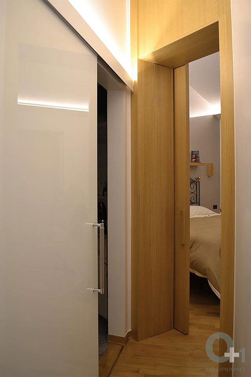Porta Scorrevole Esterna Vetro ristrutturazione-zona-notte-porta-di-accesso-camera-da-letto